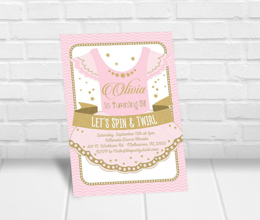 Ballerina Birthday Party Invitation - The Party Stork