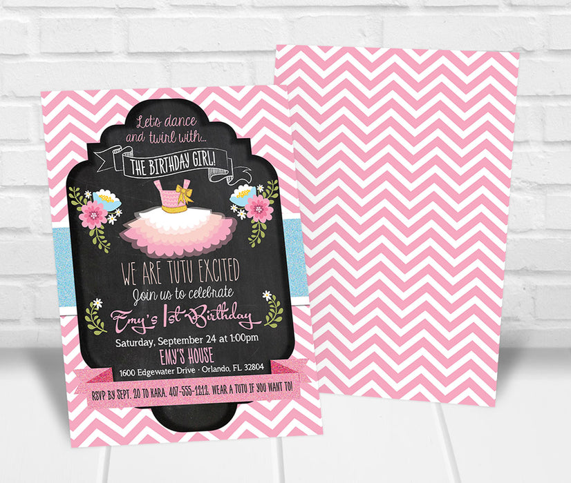 Ballet Birthday Party Invitation - The Party Stork
