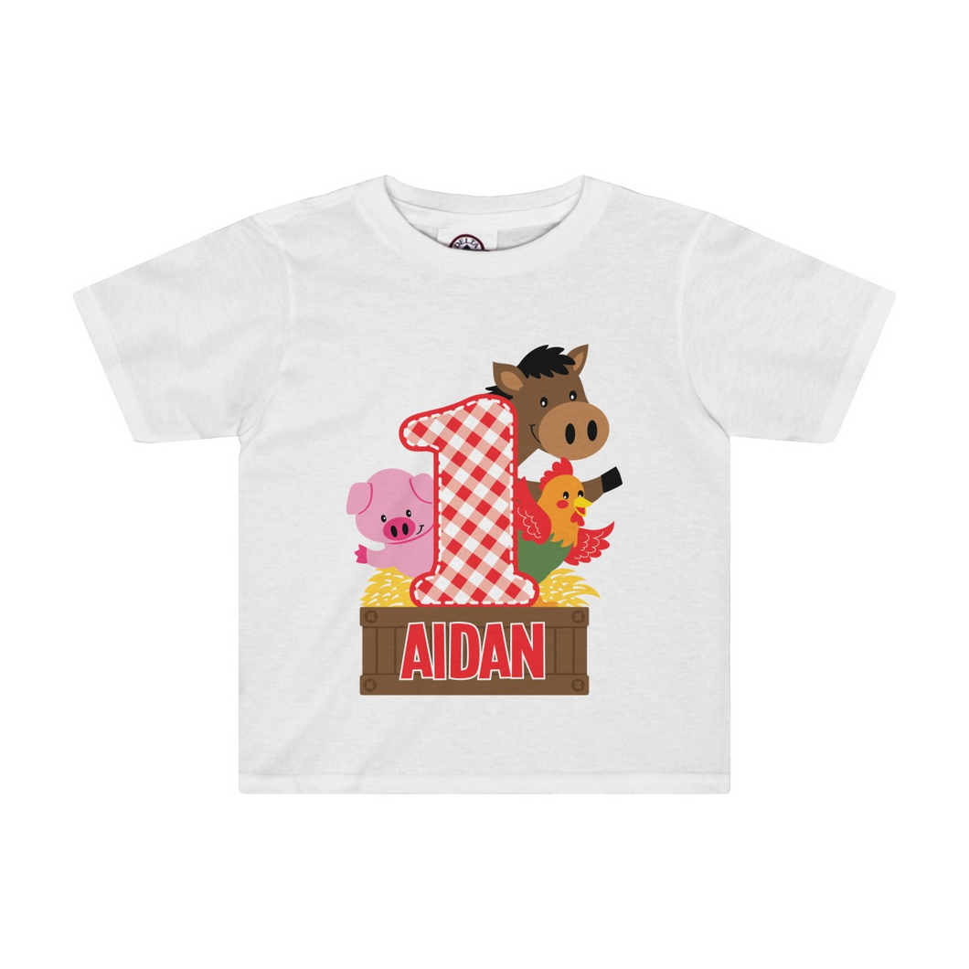 Barnyard Birthday T Shirt
