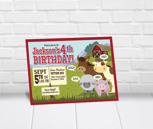 Barnyard Party Invitation - The Party Stork