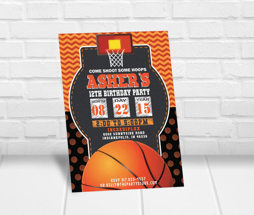 Basketball Birthday Party Invitation - The Party Stork