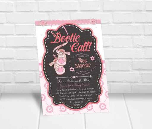 Bootie Call Baby Shower Invitation - The Party Stork