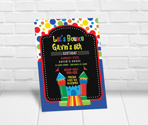 Bounce House Birthday Party Invitation Boy - The Party Stork