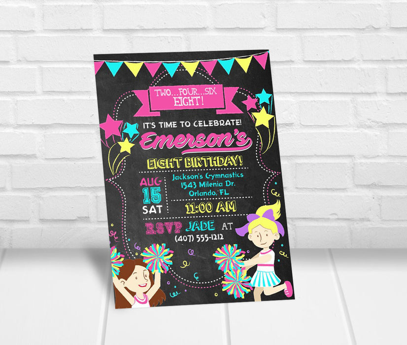 Cheerleading Birthday Party Invitation - The Party Stork