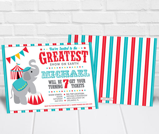 Circus Party Invitation - The Party Stork