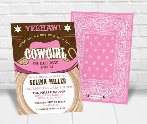 Cowgirl Baby Shower Invitation