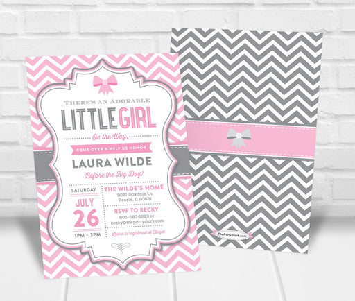 Girl Baby Shower Invitation - The Party Stork