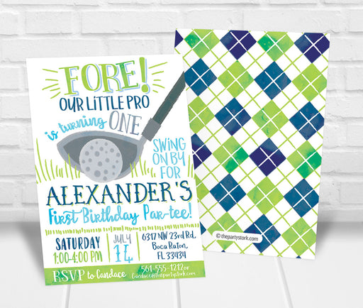 Golf Birthday Party Invitation - The Party Stork