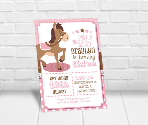 Horseback Riding Invitation - The Party Stork