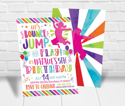 Jump Party Invitation - The Party Stork