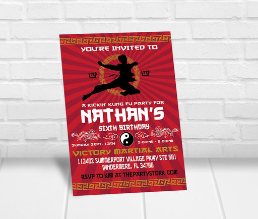 Karate Party Invitation - The Party Stork
