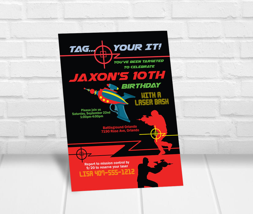 Laser Tag Invitation - The Party Stork
