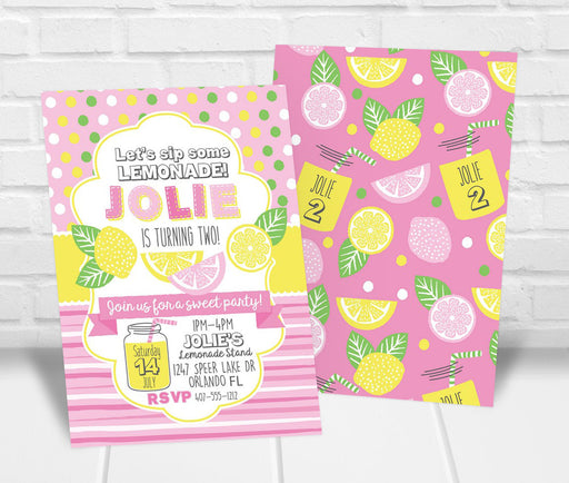 Lemonade Birthday Party Invitation - The Party Stork