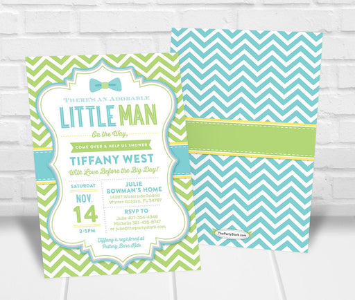 Little Man Baby Shower Invitation - The Party Stork