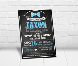 Little Man Birthday Party Invitation