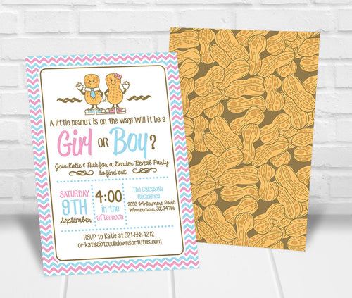 Little Peanut Gender Reveal Party Invite
