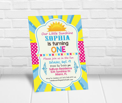 Little Sunshine Party Invitation - The Party Stork