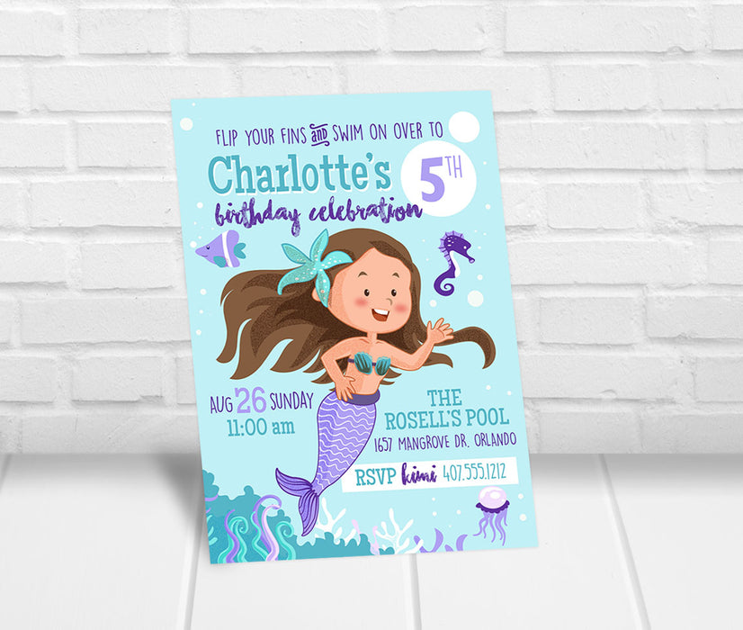 Mermaid Party Invitation - The Party Stork