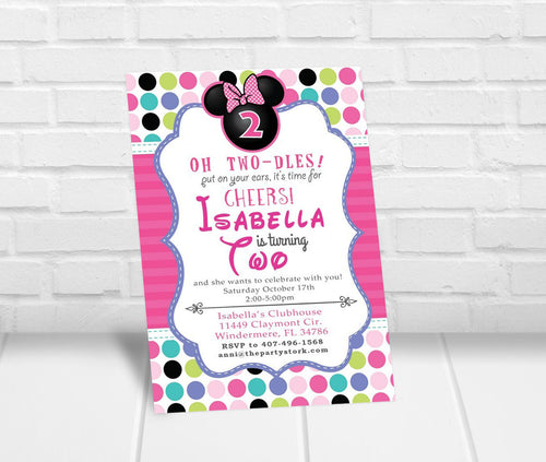 Minnie Bowtique Inspired Party Invitation