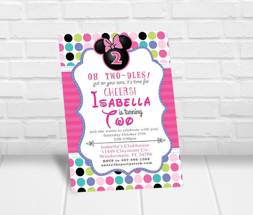 Minnie Bowtique Inspired Party Invitation - The Party Stork