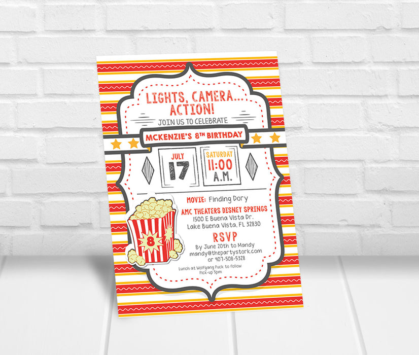 Movie Theater Invitation - The Party Stork