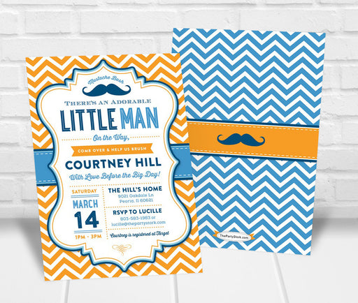 Mustache Baby Shower Invitation - The Party Stork
