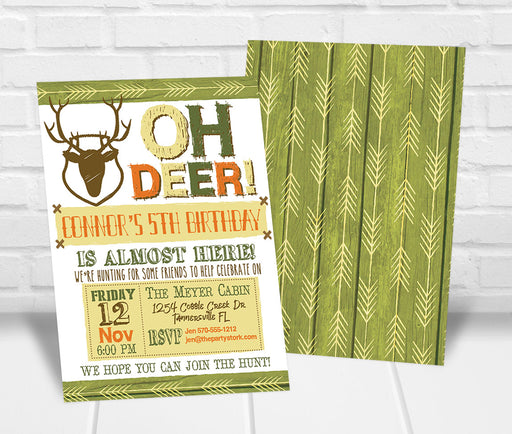 Oh Deer Birthday Invitation - The Party Stork