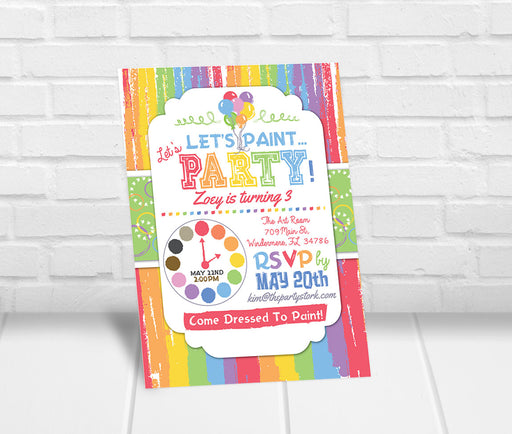 Painting Birthday Party Invitation - The Party Stork