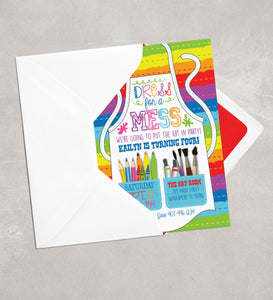 Art Birthday Party Invitation