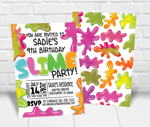 Slime Party Invitation - The Party Stork