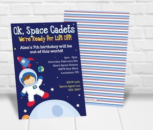 Space Birthday Party Invitation