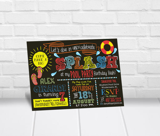 Splash Pool Party Invitation