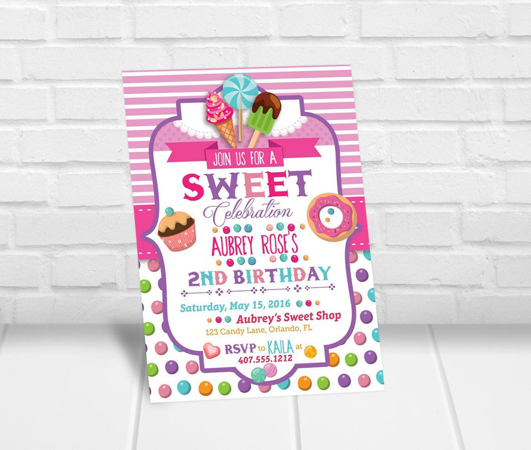 Sweet Celebration Party Invitation