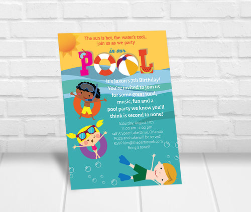 Swimming Party Invitation