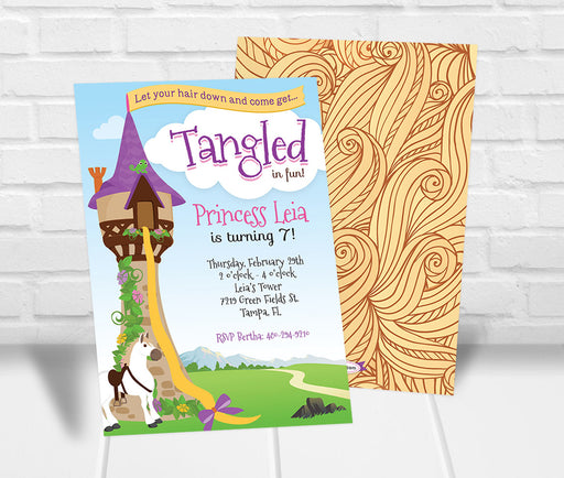Tangled Inspired Party Invitation - The Party Stork