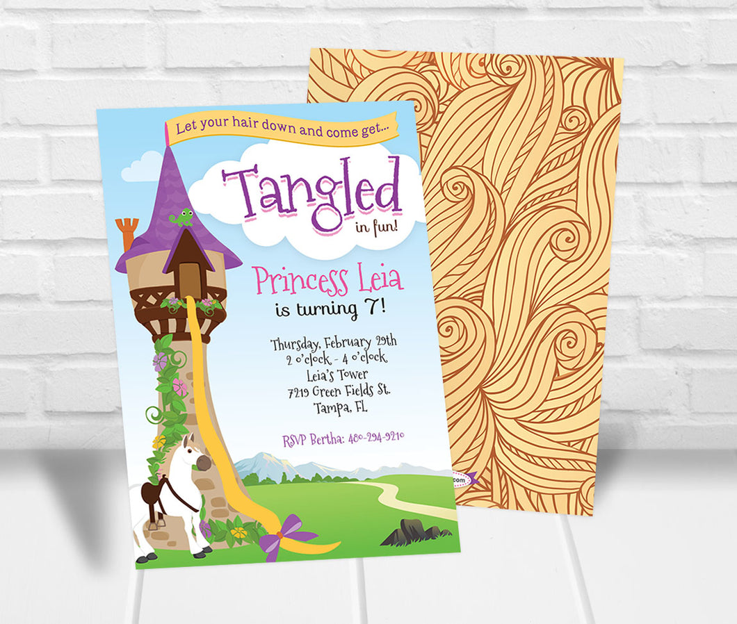 Tangled Inspired Party Invitation