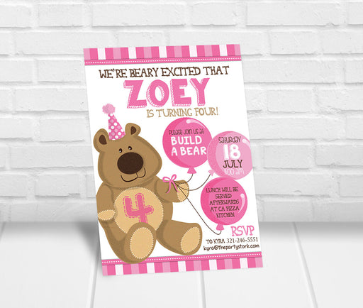 Teddy Bear Birthday Party Invitation - The Party Stork