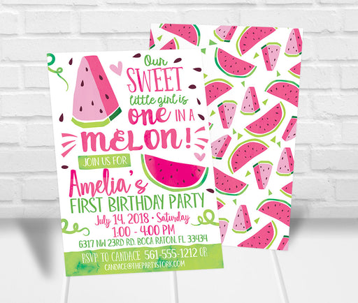 Watermelon Party Invitation - The Party Stork
