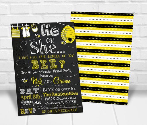 What will it Bee Gender Reveal Party Invitation - The Party Stork