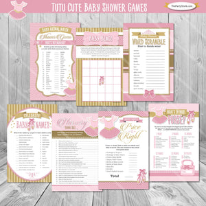 Ballerina Baby Shower Game Package