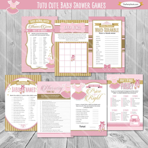 Ballerina Baby Shower Game Package - The Party Stork