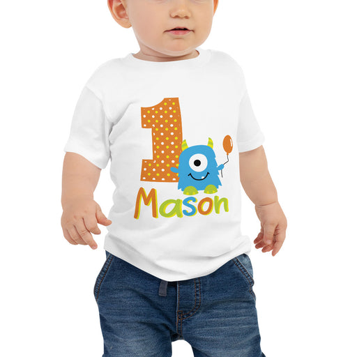 Monster 1st Birthday Tshirt - The Party Stork