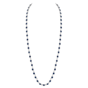 Long Necklace - Rhodium silver