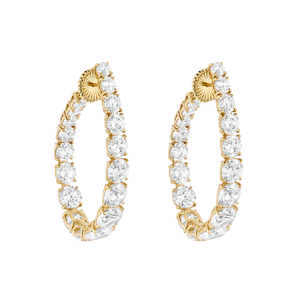 Hoop Earrings - Yellow Gold-Plated Silver