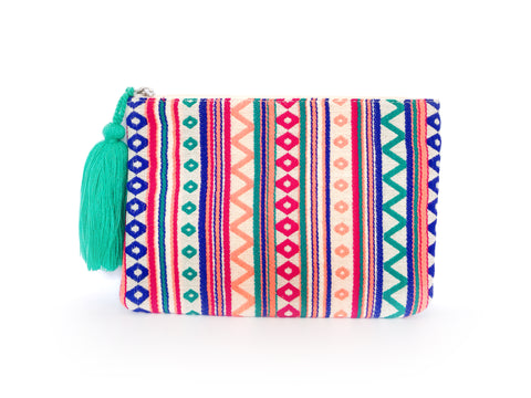 Bluey Pool Bohemian Clutch