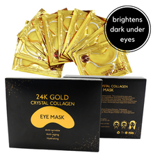 Load image into Gallery viewer, Dark under eye-circles brightening mask- gold