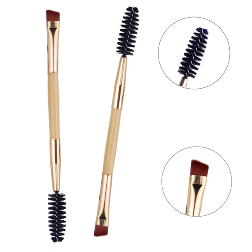 Bamboo Double Eyebrow & Lashes Brush