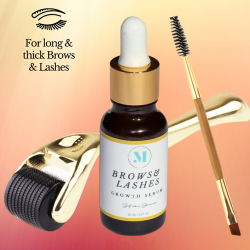 Lash & Brow Growth Serum with Brush + Micro Needle Roller