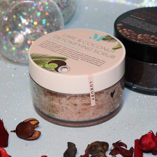Lime & Coconut Detoxifying Scrub with Himalayan Pink Salt