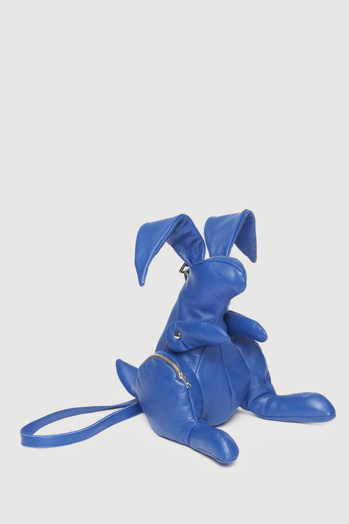 Leather Hare Bag Blue